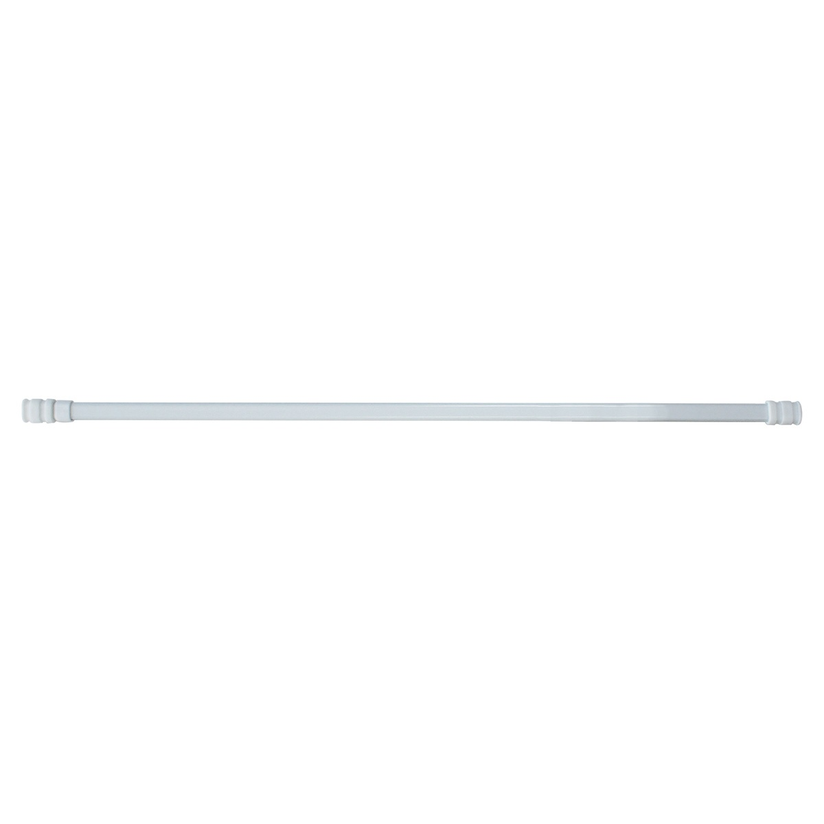 Tringle Ovale Extensible 13mm en Métal (Blanc)