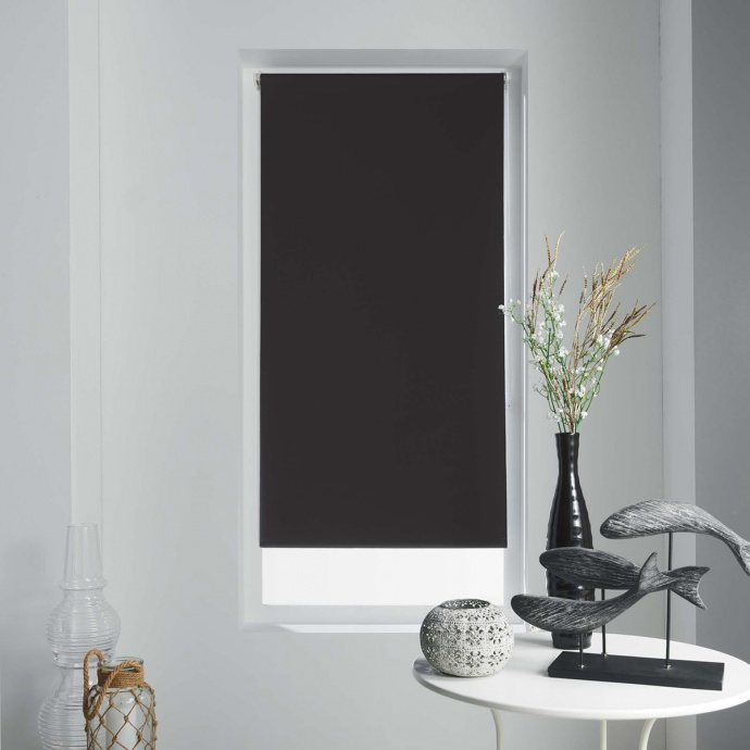 Store Enrouleur Occultant Uni et Coloré (Noir)