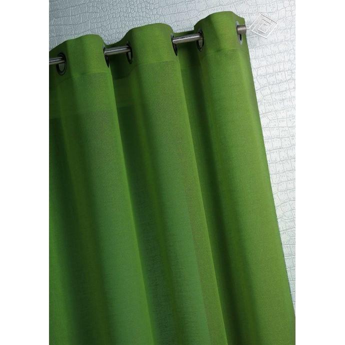 Voilage Coloré à œillets (Vert pomme)