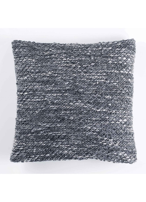 Housse de Coussin Effet Tweed (Gris)