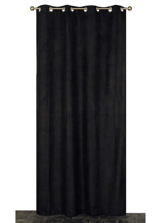 Rideau Coloré Isolant et Thermique  (Noir)