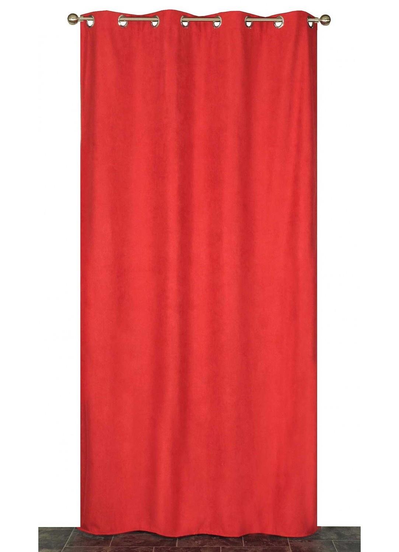 Rideau Coloré Isolant et Thermique  (Rouge)