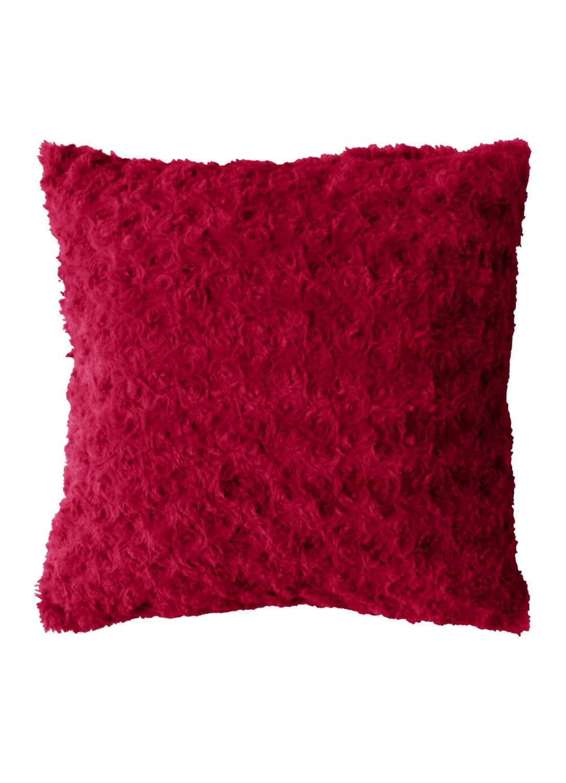 Coussin Imitation Fourrure (Rouge)