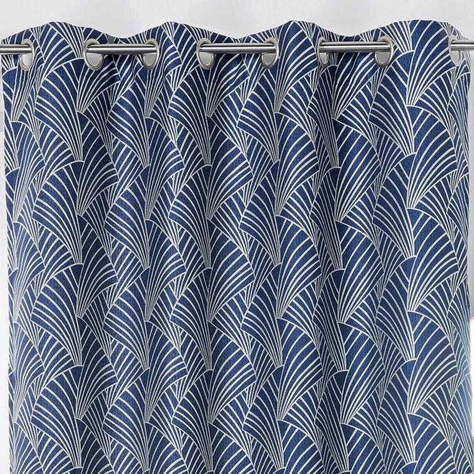 Rideau d'ameublement imprimé art déco (Bleu)