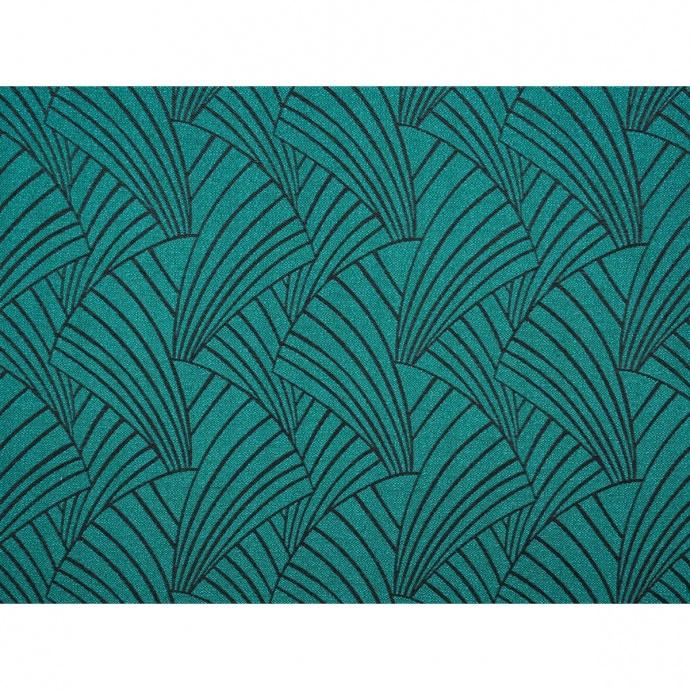 Housse de coussin imprimé art déco (vert foncé)