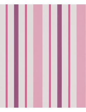 Papel pintado a rayas rosa y ciruela