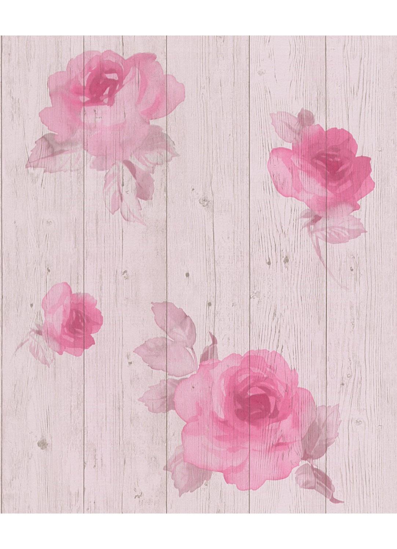 papier peint imitation lambris avec fleurs homemaison. Black Bedroom Furniture Sets. Home Design Ideas