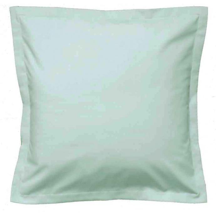 Taie D'oreiller Uni en Lin (Vert d'eau)