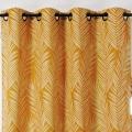 Rideau imprimé feuille de palmier (Ocre)