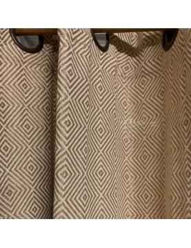 Rideau à motifs géométriques et lurex