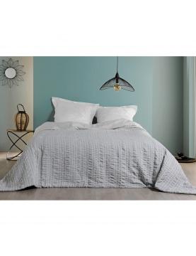 Jeté de lit à rayures verticales