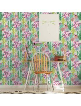 Papier peint imprimé fleurs de la passion
