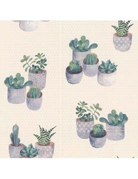 Papier peint en relief cactus