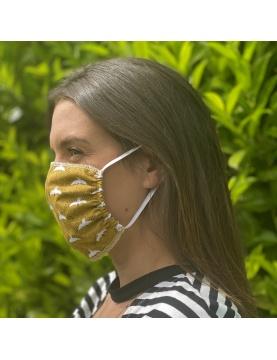 Lot de 4 masques en tissu caramel