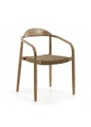 Ensemble de 4 chaises en bois et corde