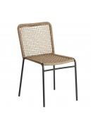 Lot de 4 chaises au tissage carré
