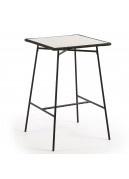 Table haute en acier et poly-ciment