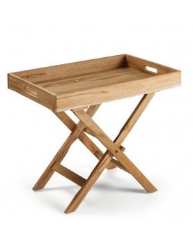 Table d'appoint pliante en teck