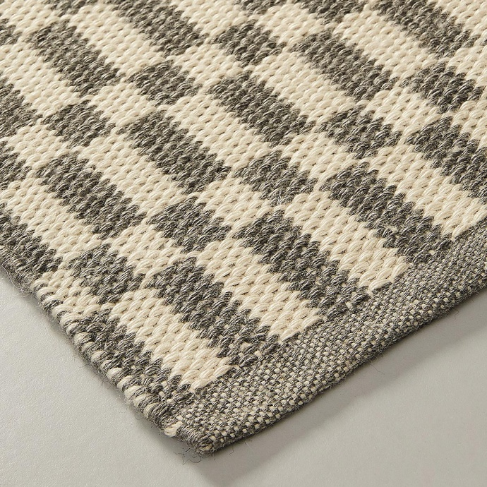 Tapis aux motifs bicolore gris et beige (Gris beige)