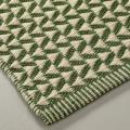 Tapis à motifs géométriques verts (Vert)