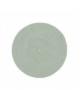 Tapis rond en tissu recyclé