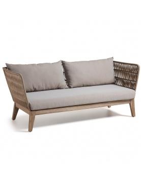 Canapé de 3 places en eucalyptus et corde