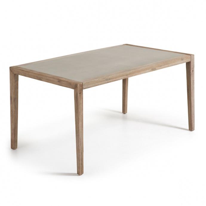 Table rectangulaire en poly-ciment (Naturel)