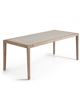 Table rectangulaire en eucalyptus