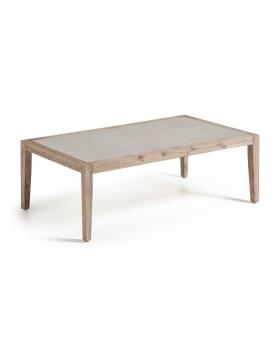 Table basse avec plateau en poly-ciment