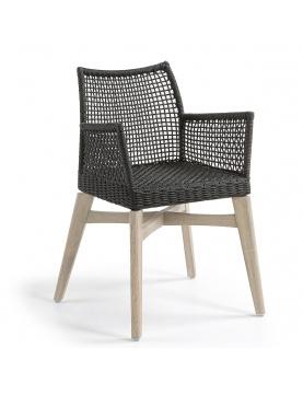 Lot de 2 chaises au tressage en corde