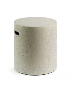 Tabouret rond en ciment