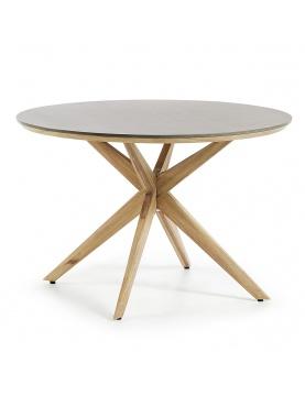 Table ronde avec pieds en étoile