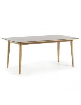 Table en eucalyptus et poly-ciment