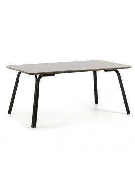 Table en acier et poly-ciment