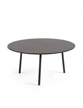 Table basse ronde et noire