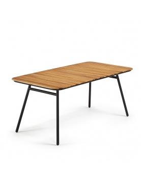 Table en acacia et acier noir