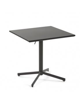 Table pliante en métal mat
