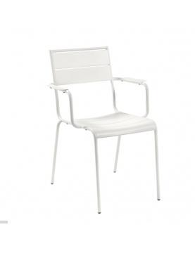 Lot de 4 chaises en métal peint