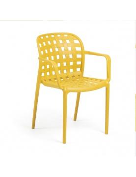 Lot de 4 chaises avec accoudoirs en polypropylène