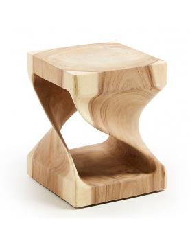Table d'appoint carrée et ajourée en bois