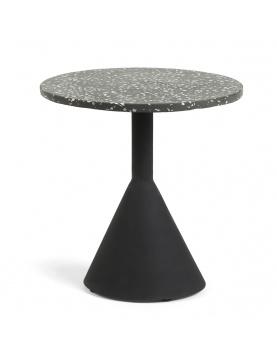 Table ronde avec plateau en terrazzo