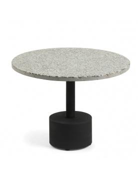 Table d'appoint avec plateau en terrazzo