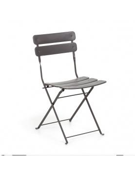 Chaise square en acier peint