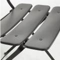 Chaise square en acier peint (Gris)