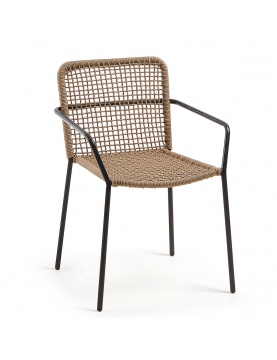 Lot de 4 chaises à maille carrée ajourée
