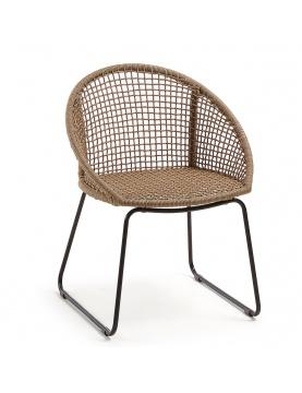 Chaise en corde avec accoudoirs