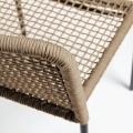Lot de 4 chaises au tissage carré (Beige)