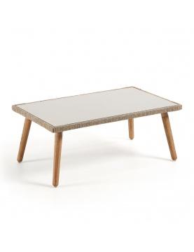 Table basse en bois et corde