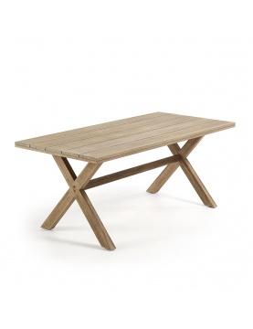 Table rectangulaire aux pieds croisés