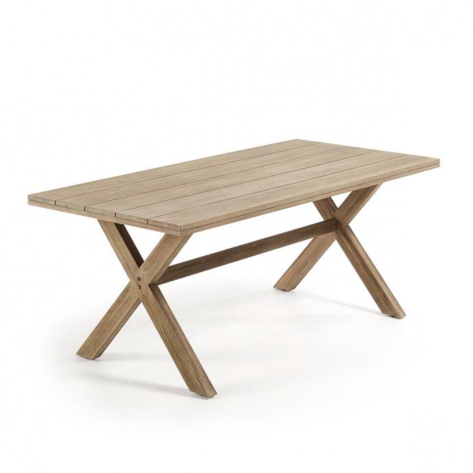 Table rectangulaire aux pieds croisés (Eucalyptus)